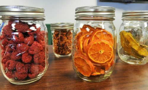 fruit from a food dehydrator
